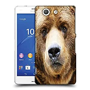 Snoogg Angry Bear Designer Protective Phone Back Case Cover For SONY XPERIA Z3 COMPACT