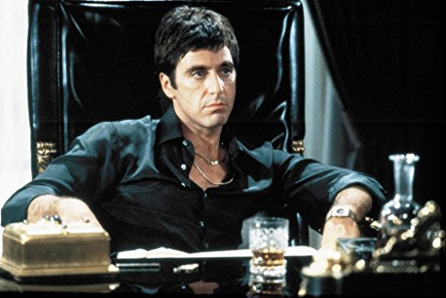 Espritte Art-Large Canvas Giclee Print Painting Movie Scarface Poster Al Pacino Picture without Framed, Modern Home Decorations Wall Art, 24*36