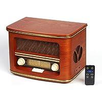 Retro Holz Nostalgie Musikanlage Kompaktanlage LW/FM Radio mit CD MP3 USB Player Nostalgieradio K�chenradio