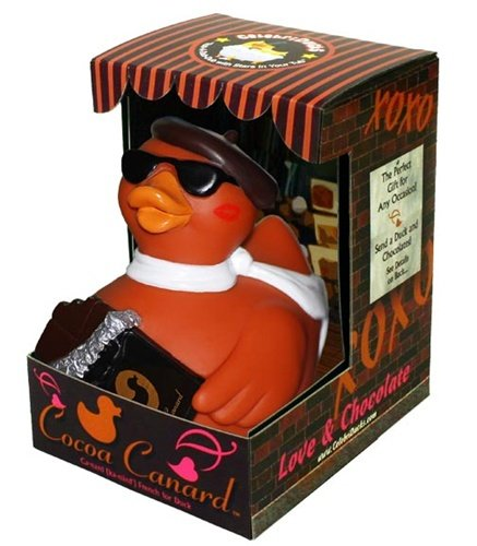 CelebriDucks Cocoa Canard Chocolate Lover's RUBBER DUCK Bath Toy