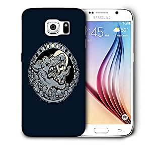 Snoogg Grey Wolf Roaring Designer Protective Back Case Cover For SAMSUNG GALAXY S6