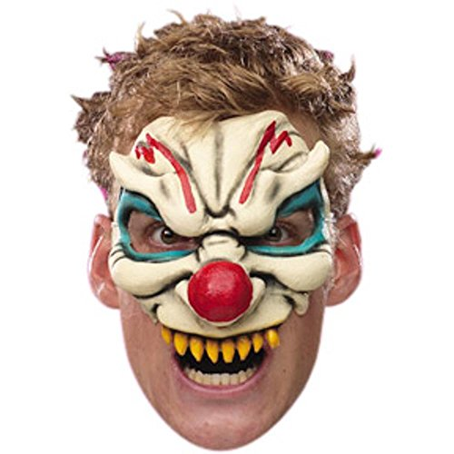 Disguise Costumes Evil Clown Vinyl Chinless Mask, Adult