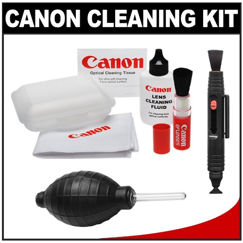 Canon Optical Lens and Digital SLR Camera Cleaning Kit with Brush, Microfiber Cloth, Fluid & Tissue + LensPen + Hurricane Blower for EOS 1Ds, 1Ds Mark II, III, IV, 50D, 60D, 5D, 7D, Rebel XS, XSi, T1i, T2i, T3 & T3i