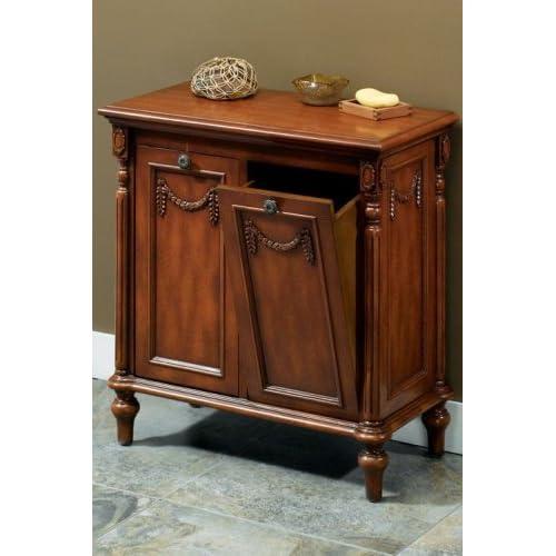 josephine tilt out hamper double antique walnut laundry hampers. Black Bedroom Furniture Sets. Home Design Ideas