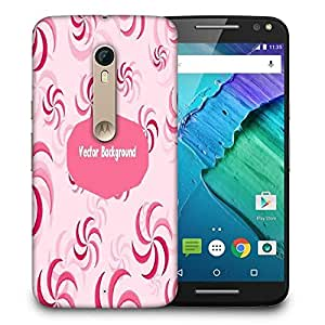 Snoogg Vector Background Printed Protective Phone Back Case Cover For Motorola X Style