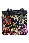 Tey-Art Celeste Hand Embroidered Fair Trade Shoulder Bag (Black)