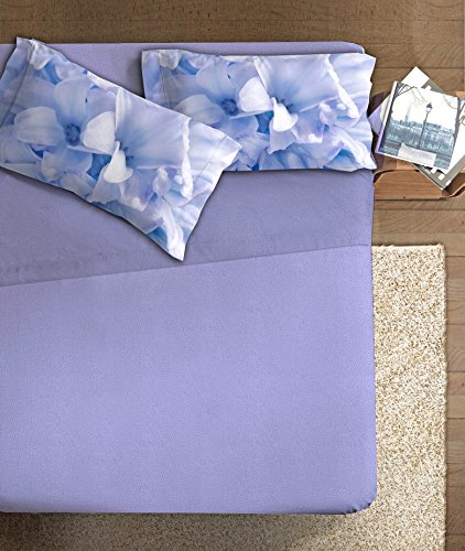 Ipersan Completo Fotografico Fine-Art, Disegno Giacinto, 1 Piazza 1/2, Cotone, Azzurro