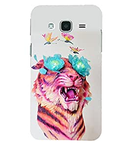 PRINTSHOPPII LION Back Case Cover for Samsung Glaxy J3 New Edition (2016)
