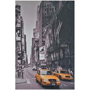 Tableau Toile Deco New York Virgin Avenue Effet Retro 30x20cm
