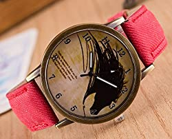Zeen - Fashion Retro Casual Dress leisure dress RD Cowboy Jeans Leather Band Quartz Analogue Smart Watch + with extra cell