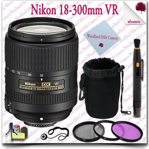 Nikon Af-S Dx Nikkor 18-300Mm F/3.5-6.3G Ed Vr Lens + 3Pc Filter Kit + Soft Lens Pouch 11Pc Nikon Saver Bundle