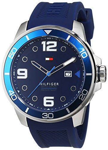 Tommy Hilfiger Herren-Armbanduhr Analog Quarz Silikon 1791156 thumbnail