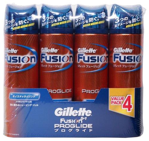 4本セット Gillette FUSION ジレット フュージョン プログライド シェービング ジェル