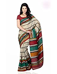 Shariyar Multi Color Art Silk Printed Saree PRG353