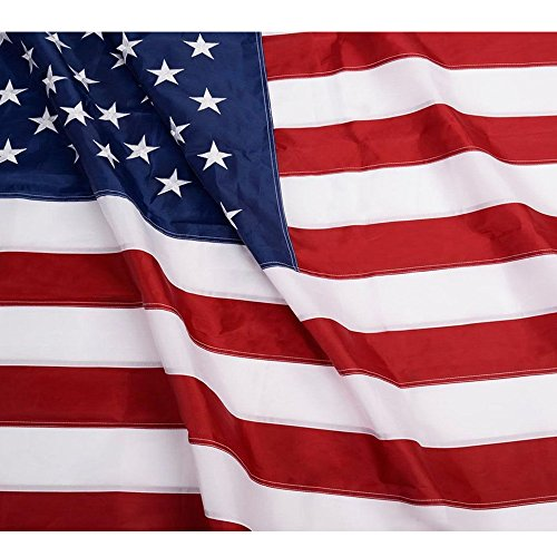 ANLEY® [Heavy Duty] American US Flag 3x5 Foot Nylon - Embroidered Stars and Sewn Stripes - 4 Rows of Lock Stitching - USA Banner Flags with Brass Grommets 3 X 5 Ft (Display Case 3x5 compare prices)