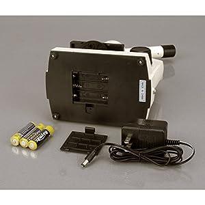 AmScope M100C-LED-SP14-CKI-WM 40X-1000X LED Student Biological Field Microscope  Slide Preparation Kit & Book
