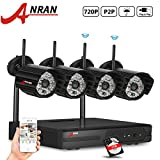 ANRAN 720P Wireless Megapixel IP Cameras 4CH WIFI NVR Wireless Security Surveillance Systems Plug and Play Indoor/Outdoor Day Night Vision 1TB Hard Drive - Best Reviews Guide