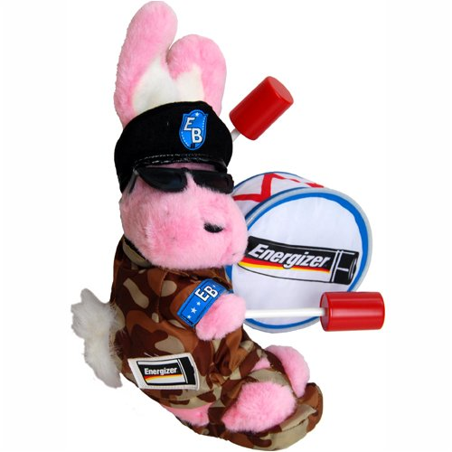 """Army Military Camouflage - Pink Energizer Bunny Plush 8"""" front-432794"""