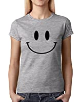 Expression Tees Big Smiley Face Womens T-shirt