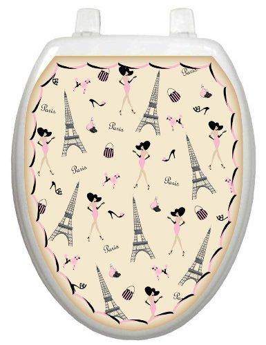 Toilet Tattoos Tt 1025 O Paris Decorative Applique For