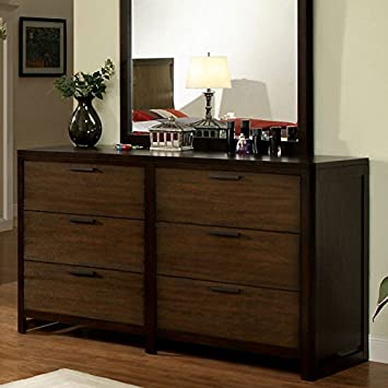 Corsica Modern Style Tobacco Finish Bedroom Dresser