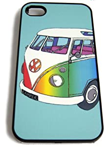 iPhone 4 and 4s ' VW SPLIT SCREEN CAMPER VAN DESIGN' (RAINBOW) Clip on Case, Back Cover.