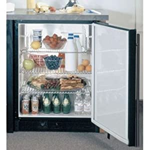 ADA Height Refrigerator Color: Black, Hinge: Right