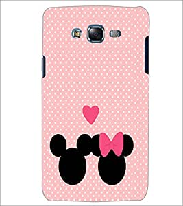 PrintDhaba Mickey and Minnie D-2237 Back Case Cover for SAMSUNG GALAXY ON 7 (Multi-Coloured)