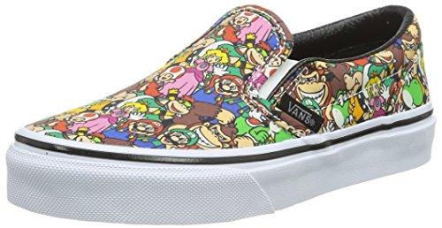 Vans Classic Slip-On, Scarpe da Ginnastica Basse Unisex - Bambini, Multicolore ((Nintendo) Super Mario Bros/Multi), 31.5 EU
