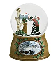 6″ Musical Letter From Santa Claus Christmas Snow Globe Glitterdome Plays Santa is Coming To Town