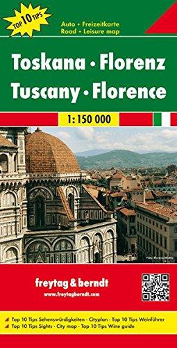 Portada del mapa de la Toscana, de Freytag y Berndt