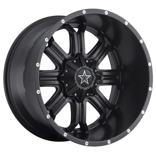 Tis 535B 20 Black Wheel / Rim 5X5 & 5X5.5 With A 0Mm Offset And A 78 Hub Bore. Partnumber 535B-2090900