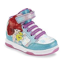 Disney Princess Ariel The Little Mermaid Girls Hi Top Sneaker (12 M US Little Kid)