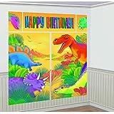 Prehistoric Dinosaur Giant Scene Setter Wall Decorating Kit Birthday Party