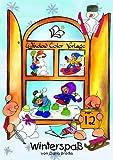 Window-Color-Vorlage: Winterspass. Window Color Vorlage