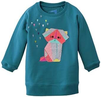 Name It Etla - Sweat-shirt - Fille - Bleu (Tile Blue) - FR: 12 mois (Taille fabricant: 80)
