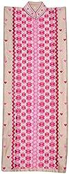 The Phulkari Women's Silk Unstitched Kurti Material (Dark Pink & Pink)