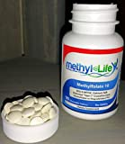 L-Methylfolate 10 - (6S)-5-MTHF, calcium salt (10,000 mcg per tablet) - [90 Non-GMO, Chewable Tablets]