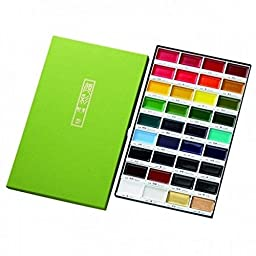 ZIG Kuretake Gansai Tambi Japanese Watercolor Paint 36 Colors Set MC20/36V