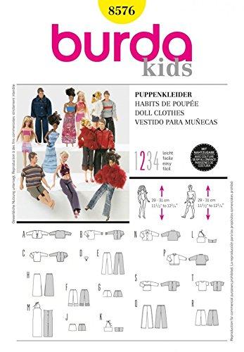 Burda-Schnittmuster-Craft-Easy-Schnittmuster-8576-Barbie-Puppe-Einheitsgre