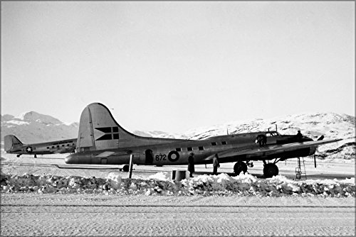 24x36 Poster; Sas Boeing B-17 Flying Fortress 1944-1948, Oy-Dfa, Shoo Shoo Shoo Baby, Greenland