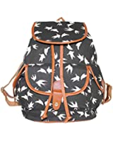 niceeshop(TM) Ladies Girls Vintage Floral Swallow Canvas Travel School Bag Backpack Rucksack