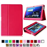 Fintie Slim Fit Folio Case Cover for Samsung Galaxy Note 10.1 inch Tablet N8000 N8010 N8013 - Magenta