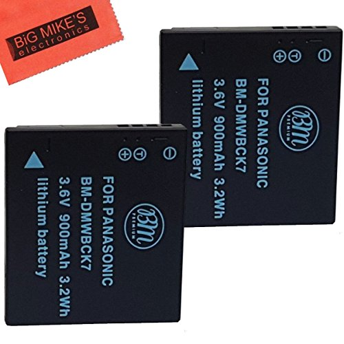 Pack of 2 DMW-BCK7 Batteries for Panasonic Lumix DMC-FH25, DMC-FH27, DMC-FP5, DMC-FP7, DMC-FS16, DMC-FS18, DMC-FS22, DMC-FS35, DMC-FS37, DMC-S1, DMC-S2, DMC-S3, DMC-SZ1, DMC-SZ5, DMC-SZ7, DMC-TS20, DMC-TS25, DMC-TS30 Digital Camera