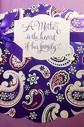Mothers Day Greeting Card Choices ~ Variety of Style and Recipients (M: Purple Paisley- God Blesses) (Soul Owner compare prices)