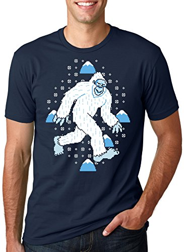 Yeti Ugly Sweater T Shirt Cool Christmas Shirt Snow Tee L