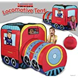 Locomotive Play Tent and Tunnel- Indoor/Outdoor Collapsible Play Tent
