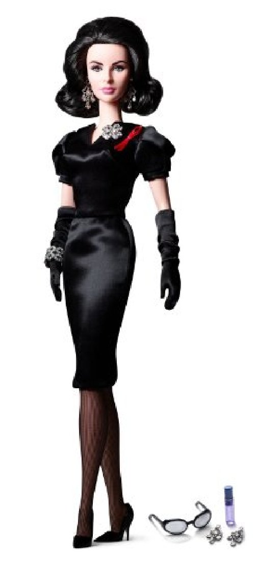 Barbie collector Violet Eyes Elizabeth Taylor Doll Gold label W3495 doll mascot günstig
