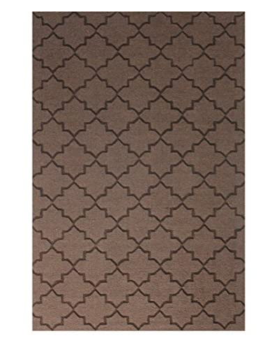 Bashian Wool Tufted Rug, Chocolate, 5' x 7' 6