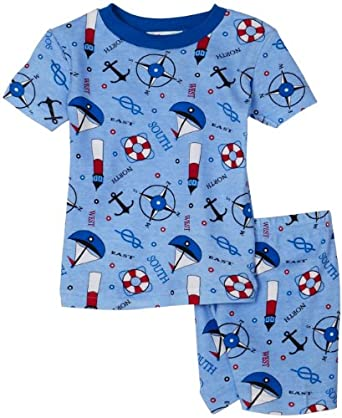 New Jammies Organic Cotton PJ Short Set, Nautical, 12 Months